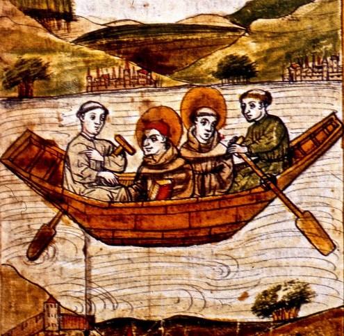 saints in boat