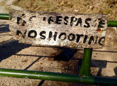 no trespassers