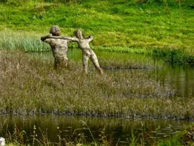 figures in the lake
