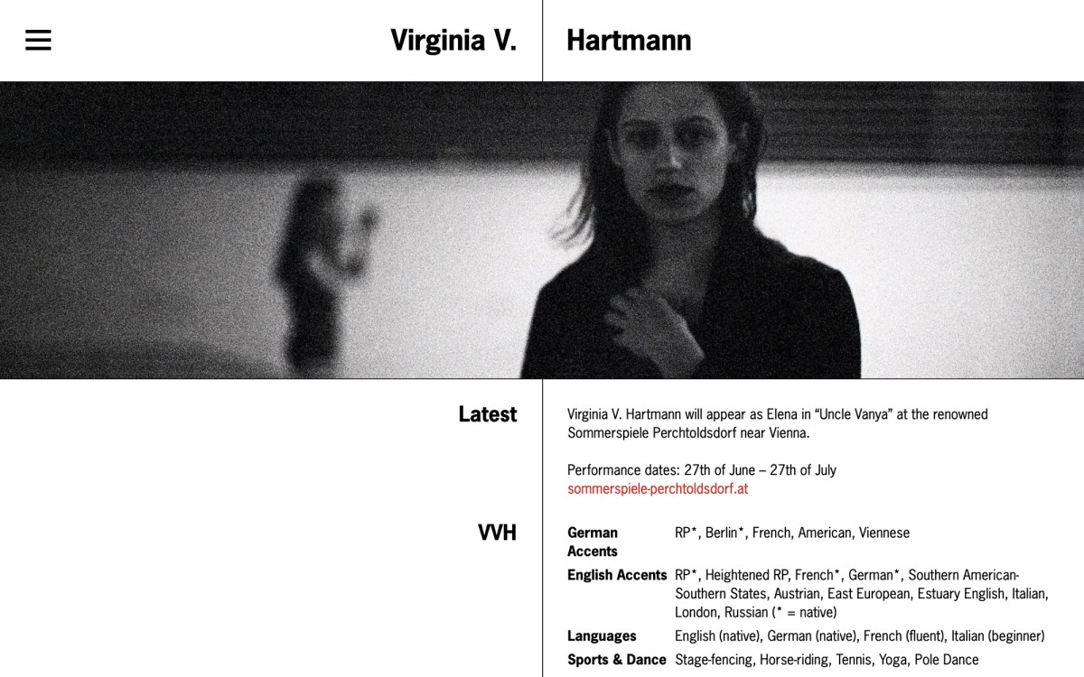 Virginia V Hartmann's website
