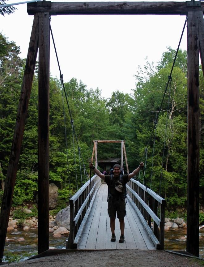 Bridge to parking lot!
