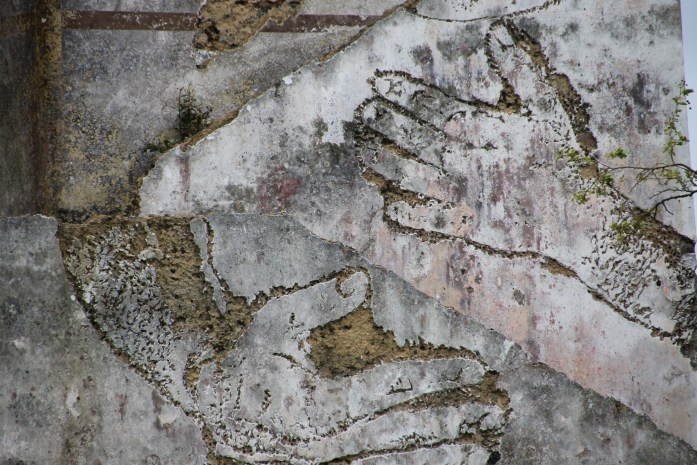 close up Street Art of the Azores by Vhils