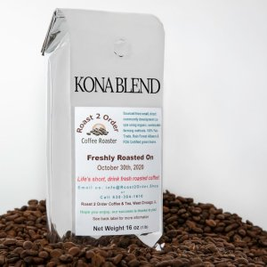 Kona Blend fresh roasted coffee