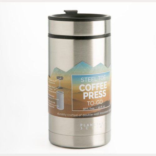 Planetary design 20oz thermal travel French press in stainless steel