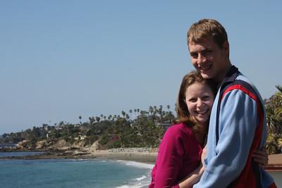 Rob and Emily enjoying the beach - Laguna Beach, CA ... March 7, 2009