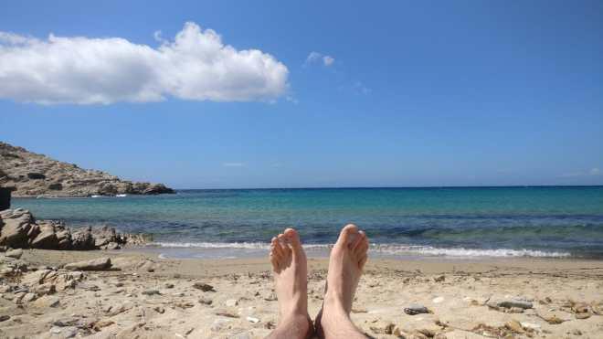 Beach in Antiparos
