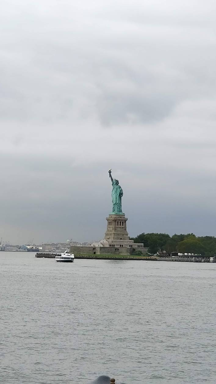 Statue of Liberty on a cloudy day
