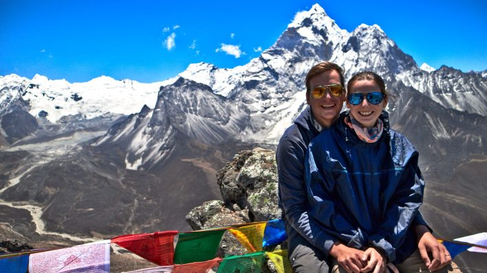Whenever we found a climb particularly difficult we always rewarded ourselves with a snack! But the views made it all worth it! | Everest Base Camp Trek Packing List and Shopping Guide
