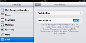 iPad Web Inspector