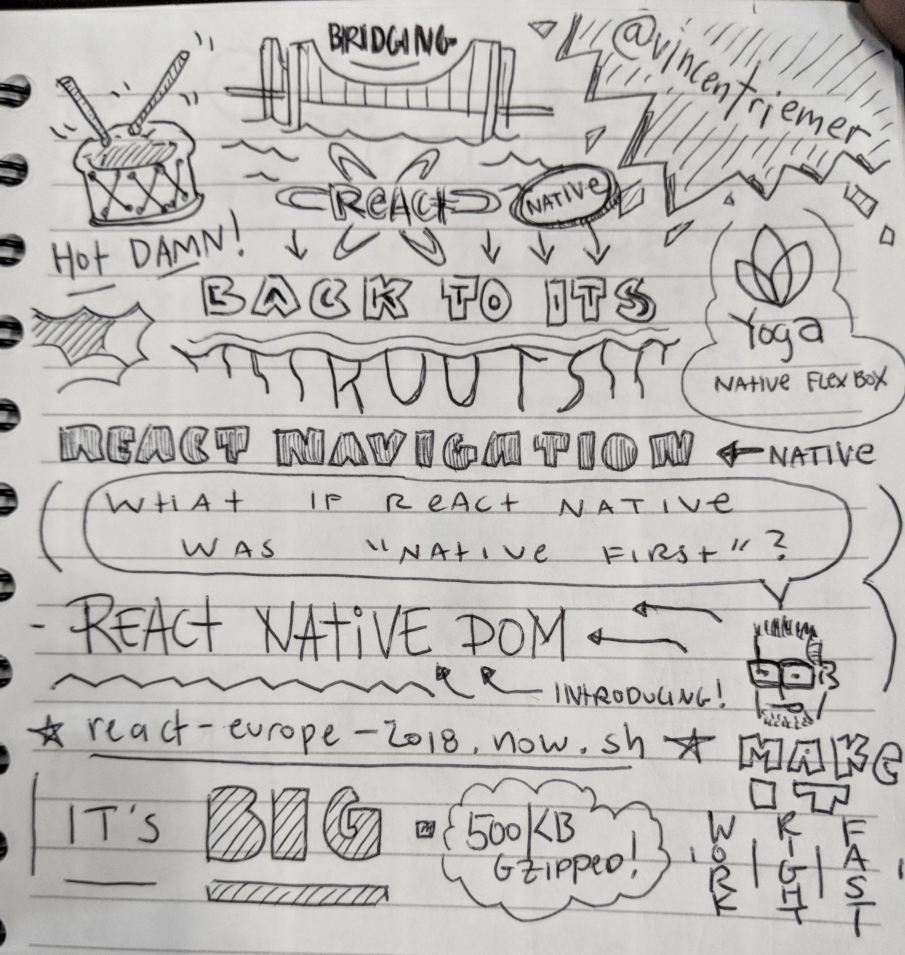 Notes on Bridging React Native Back to its Roots