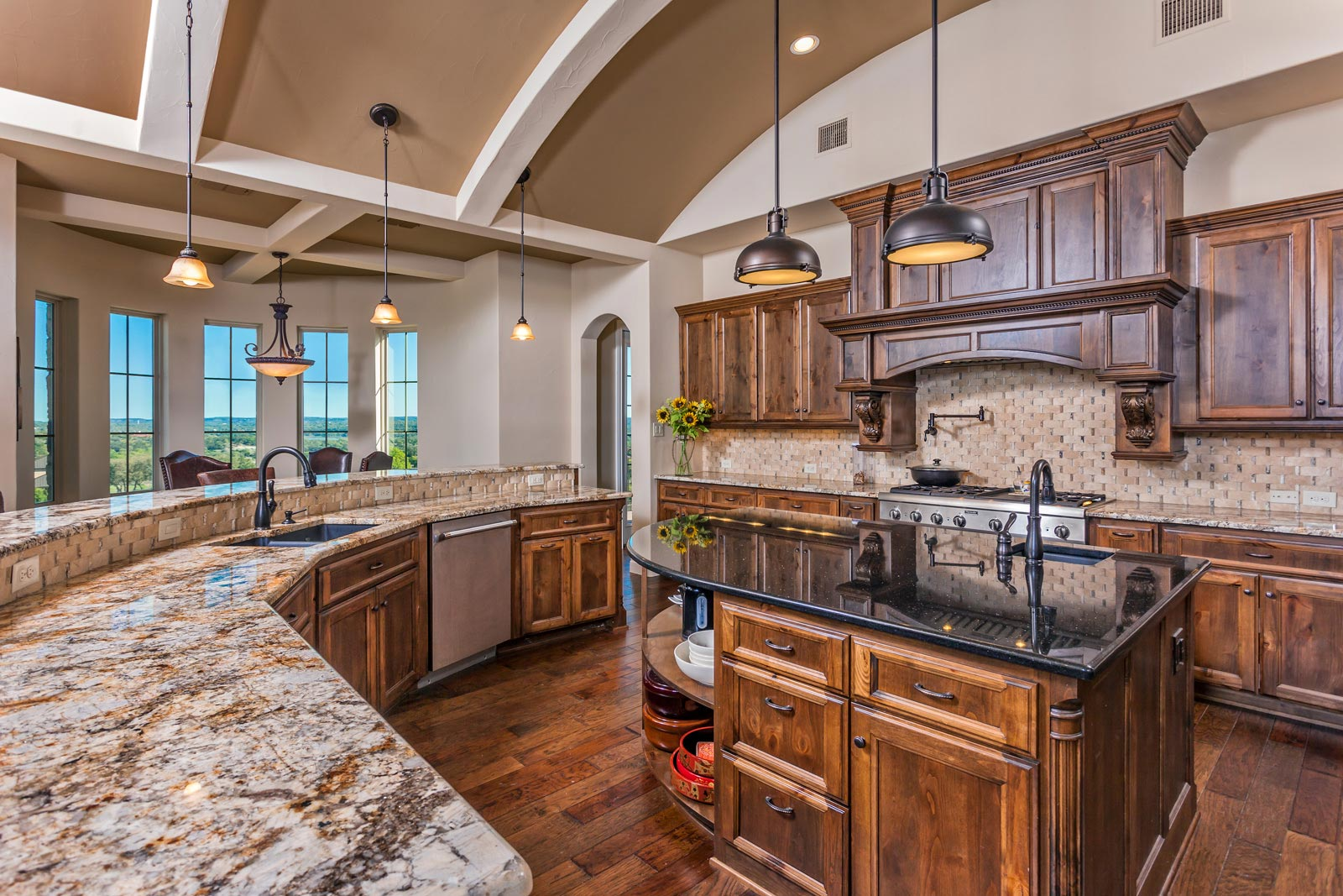 Custom Home Kitchens - Custom Home Builder San Antonio ... on Luxury Farmhouse Kitchen  id=75911