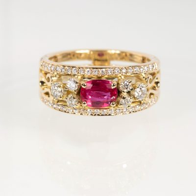 Anastasia ring – Ruby