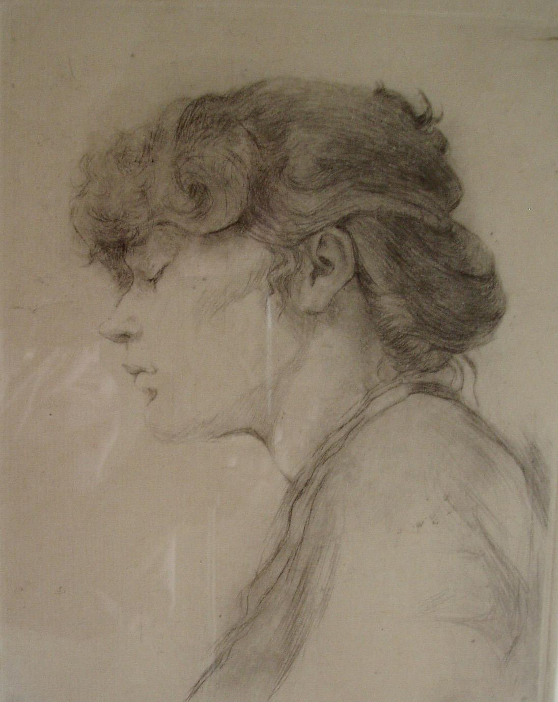 RObbert Ruigrok, 'Anneke Bonneke', 1980. Drypoint.