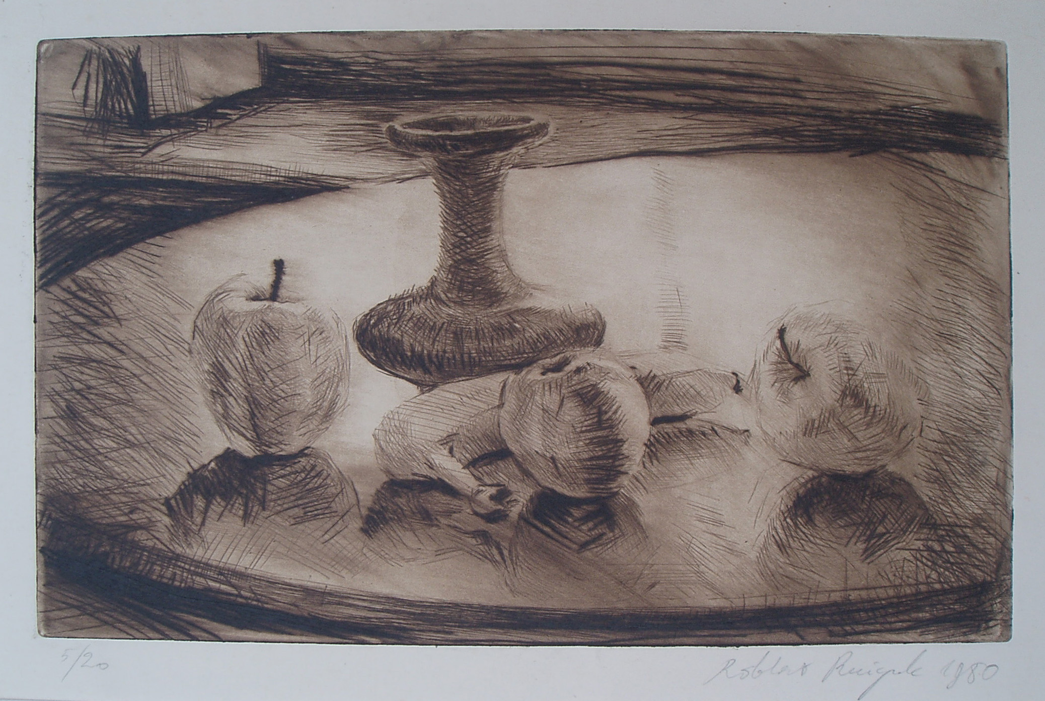 Robbert Ruigrok, 'Still Life with Fruit', 1980. Drypoint.