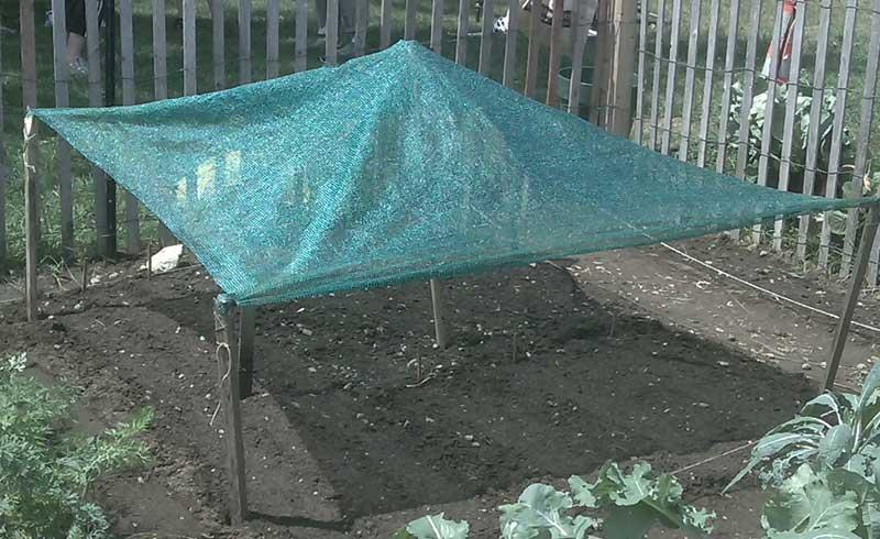 shade cloth tent
