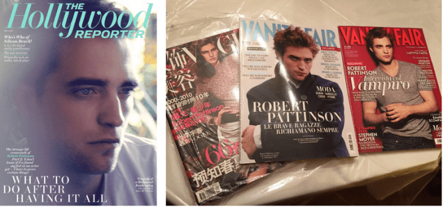 4/14 The Hollywood Reporter (2 available), Japan Vogue 2010, Italian VF 2010, Italian VF 2009