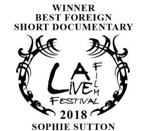 Sophie Sutton won best Film honors in the documentary category at L.A. Live.