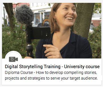 Certificate training course: Mobile journalism & Digital storytelling university level