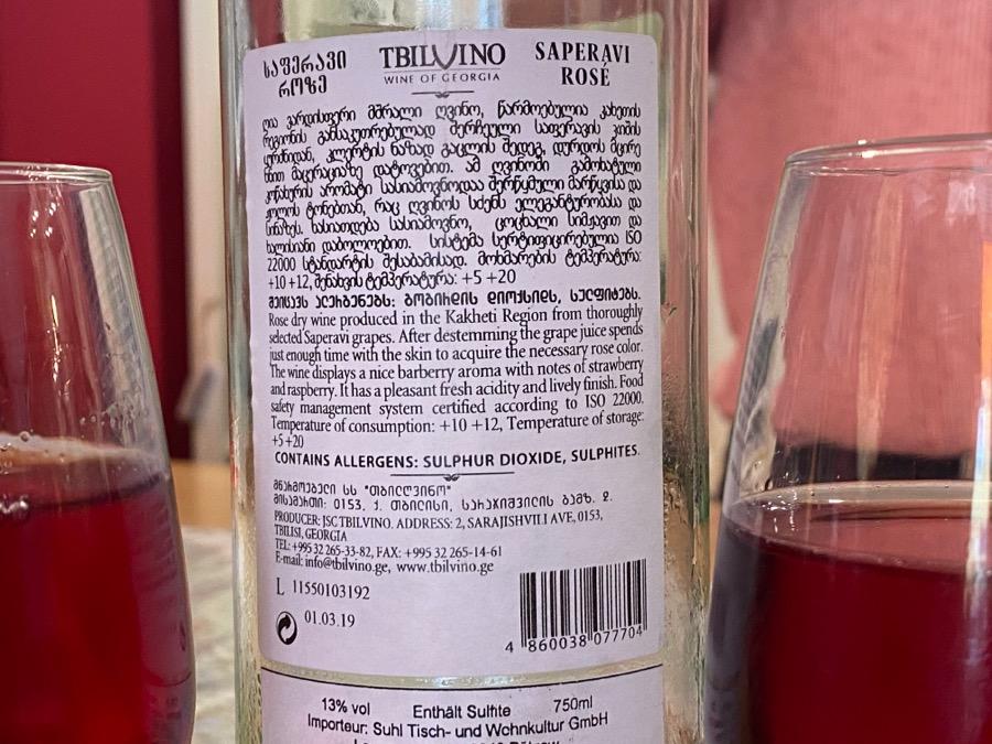 Georgian wine bottle label