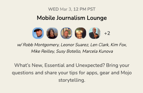 Mobile journalism longe invite to clubhouse