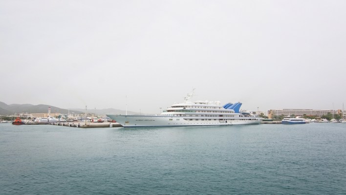 IBIZA, BALEARIC ISLANDS, SPAIN - OCTOBER 26, 2016: Prince Abdulaziz, one of the largest motor yachts in the world, moored in harbor on October 26, 2016 in Ibiza, Balearic islands, Spain.; Shutterstock ID 516017752; Notes: top 20 largest yachts in the world