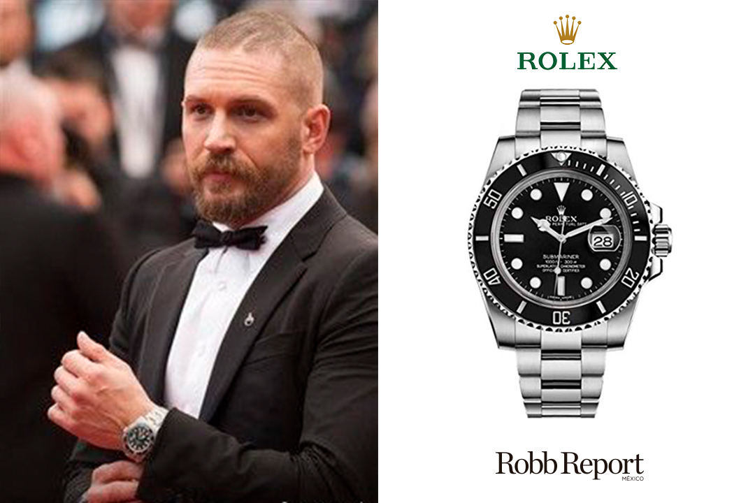 05 Rolex Tom Hardy - Estas son las marcas favoritas de lujo de Tom Hardy