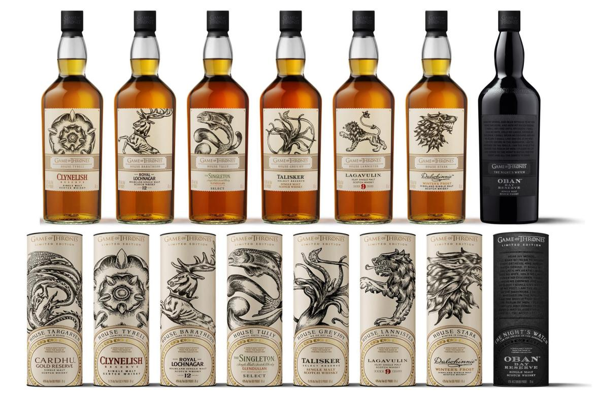 141865 Diageo Game of Thrones Whiskies 1 - La euforia de la última temporada de Game Of Thrones quedó plasmada en estas marcas