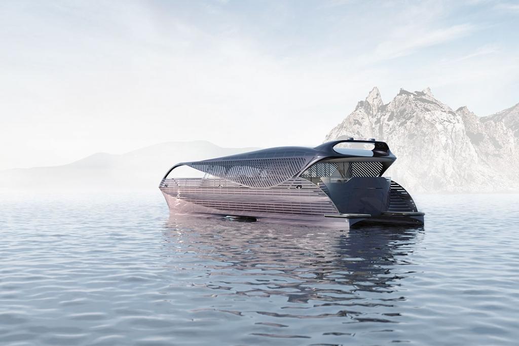 300 Render1 1024x683 - Podrás navegar cualquier parte de alta mar en este yate impulsado con energía solar