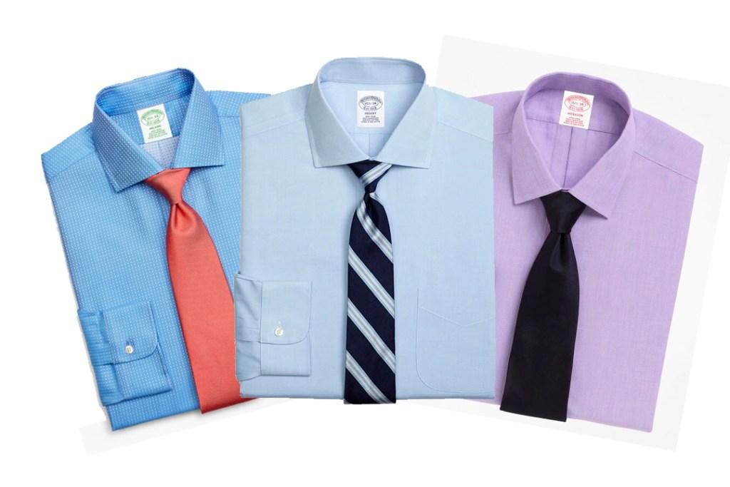 Las camisas que no se arrugan se llevan con el estilo de Brooks Brothers