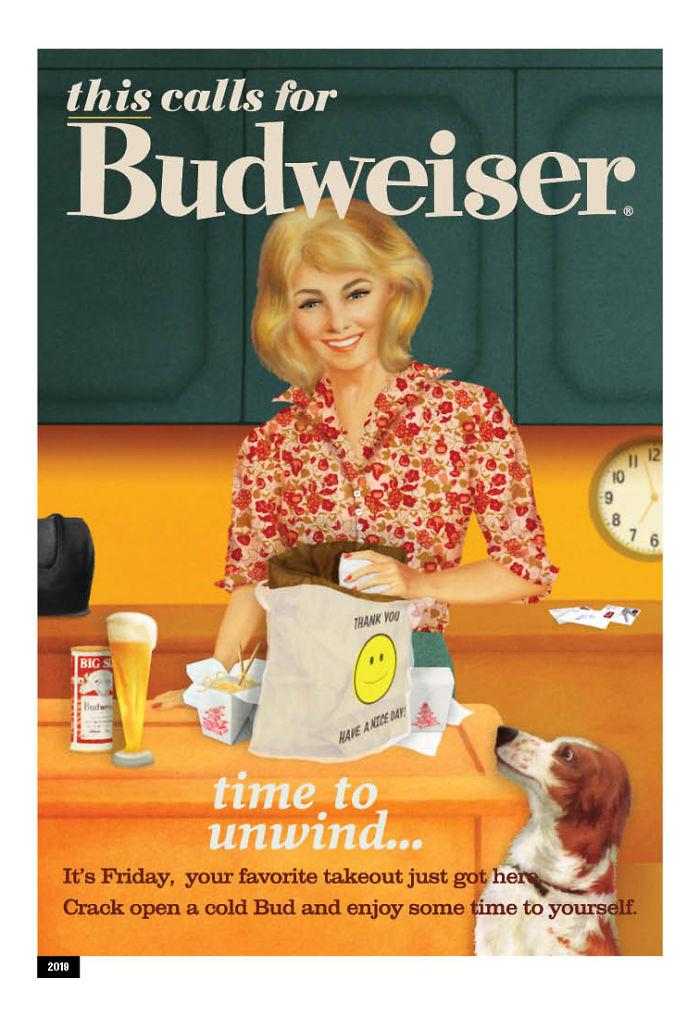 anunico 1 - Budweiser cambia publicidad sexista de los 50´s y la adapta para millennials