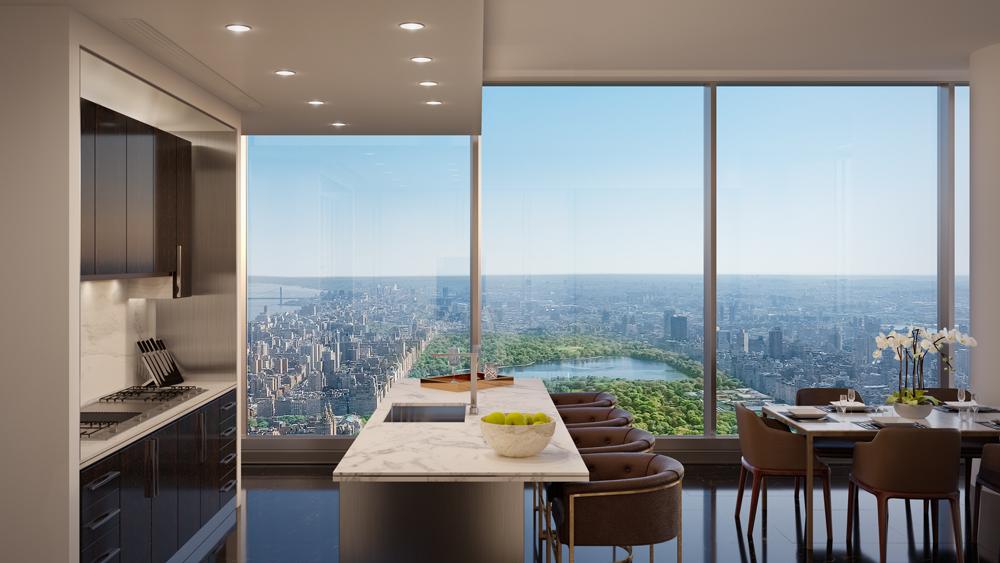 cpt dark kitchen - Múdate a Central Park Tower y goza de la mejor vista de NY solo para ti