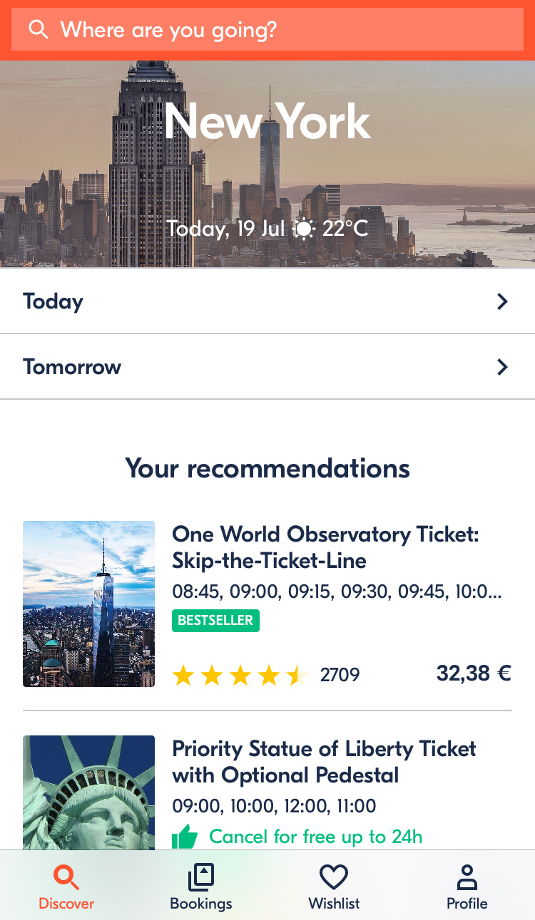 GetYourGuide App - Apps imprescindibles para aprovechar al máximo tu viaje