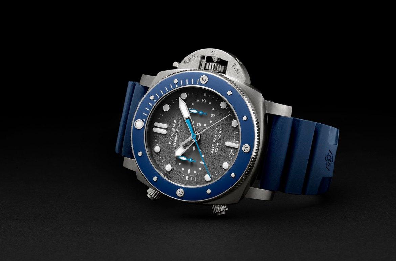 Panerai Submersible Chrono Guillaume N%C3%A9ry Edition 1 Horas y Minutos - 5 relojes con estilo para tus próximas aventuras en el fondo del océano (sólo para él)
