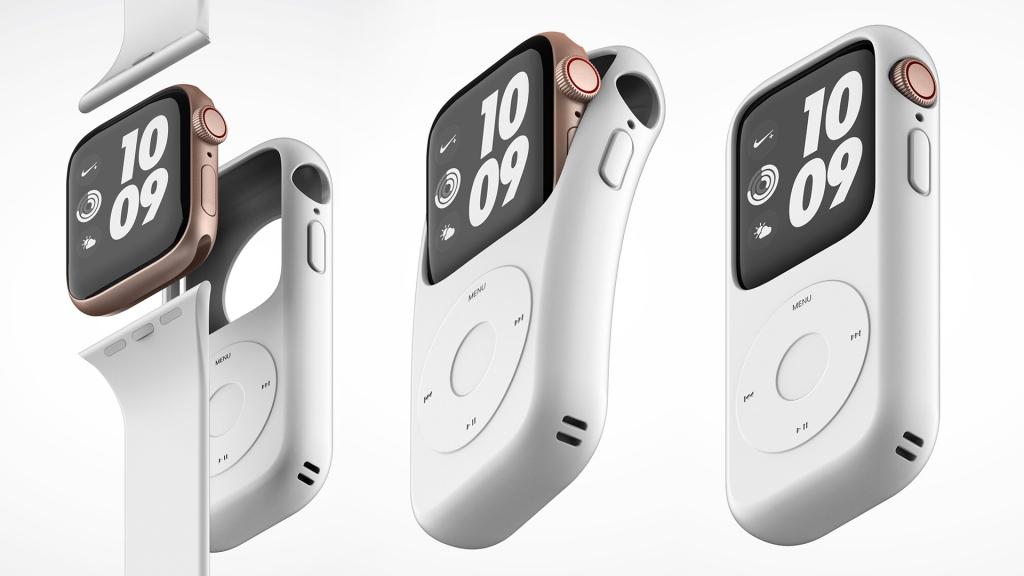 podcase1 1024x576 - Esta carcasa convertirá tu Apple Watch en un iPod Classic