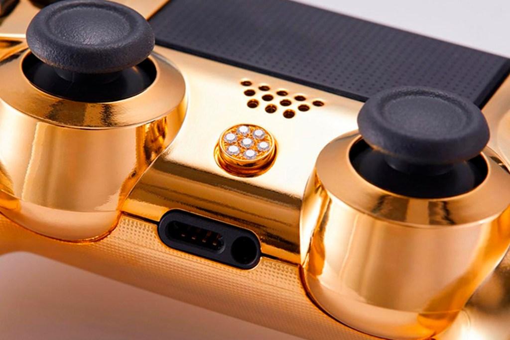 ¿Cuánto cuesta este control de videojuegos bañado en oro y diamantes?