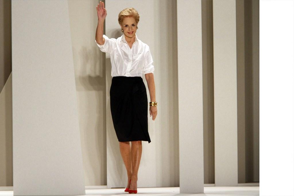 Carolina Herrera presenta su último desfile en Nueva York