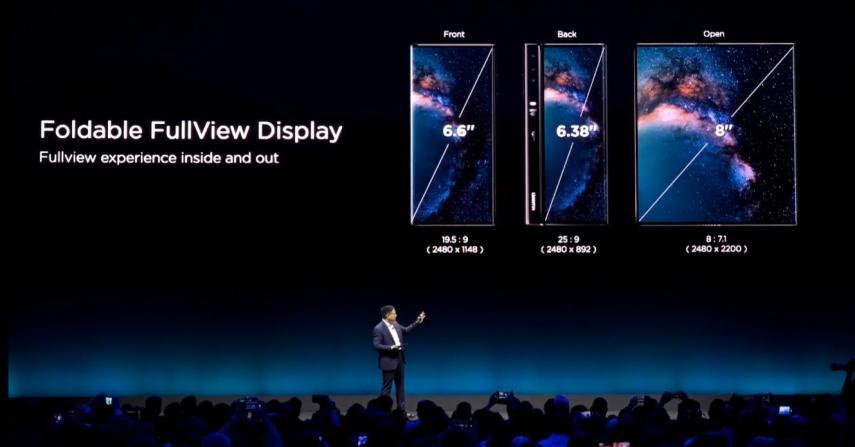 tama%C3%B1o mate x - ¿Huawei le ganará a todos los smartphones con su nuevo teléfono plegable y tecnología 5G?