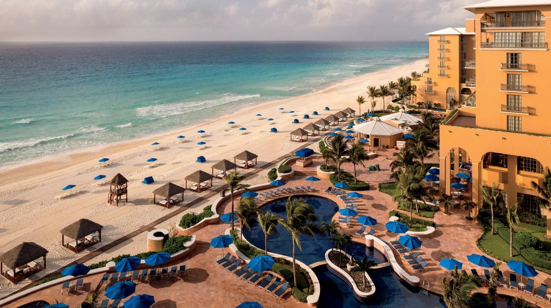 the ritz carlton cancun aerial - Las 5 estrellas de Forbes Travel Guide han recaído en estos hoteles mexicanos