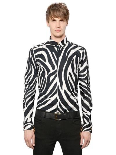 versus blackwhite zebra print poplin cotton shirt product 1 15898199 232209482 - Siete tips para usar animal print sin perder la sofisticación