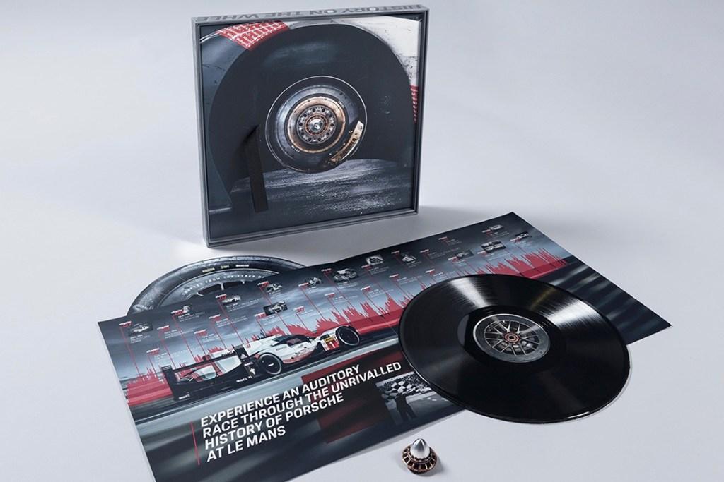 Este vinilo fue creado con los neumáticos originales del 919 Hybrid