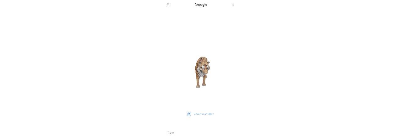 Ya podrás tener animales exóticos en casa con Google AR