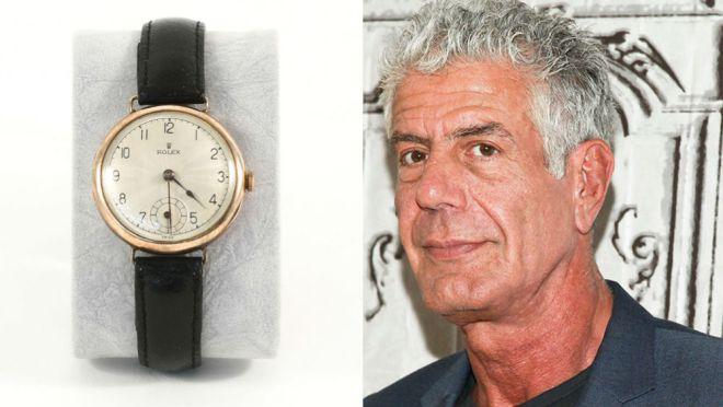 La colección de relojes de Anthony Bourdain sale a subasta