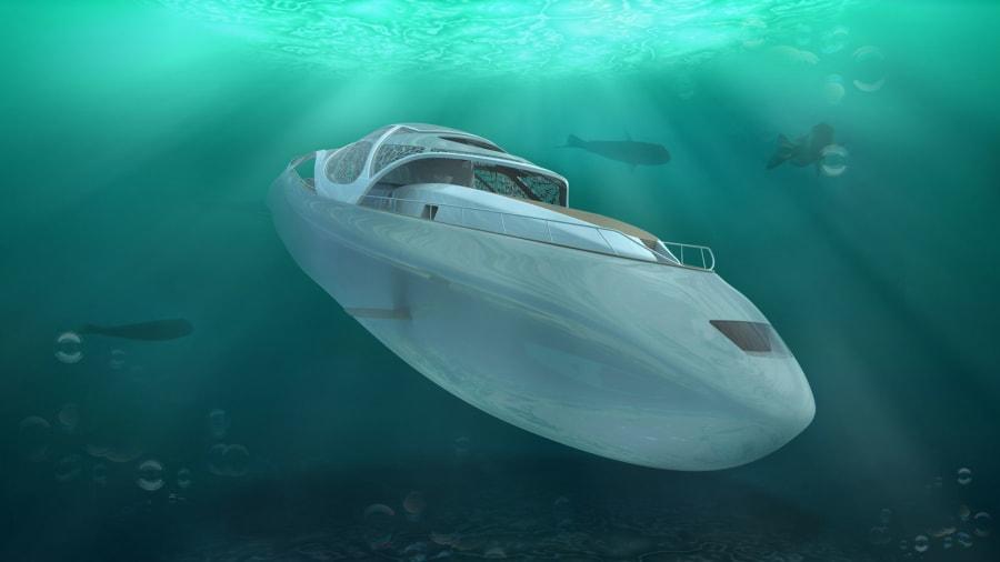 Explora el océano como nunca a bordo de este yate capaz de convertirse en submarino