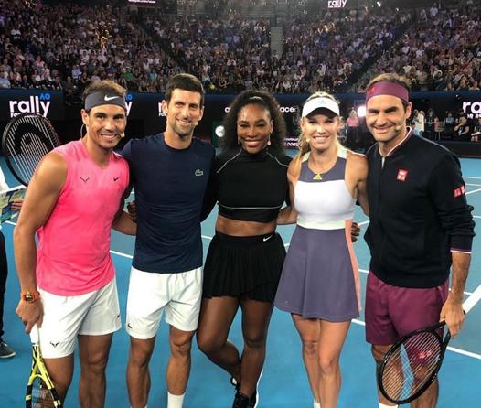 Así es como las leyendas del tenis recaudan millones de euros para apoyar a Australia