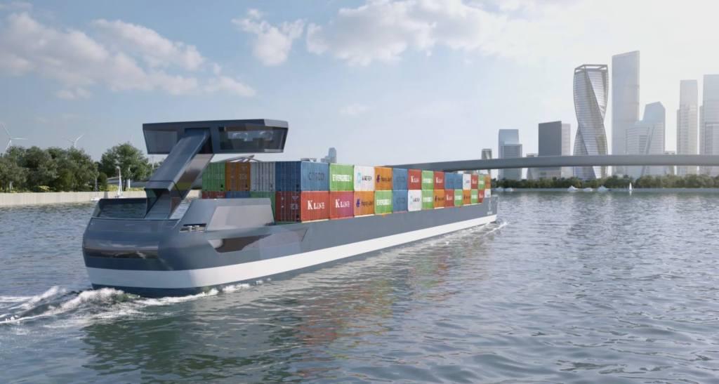 Así son las barcazas de TESLA que dominarán el transporte acuático