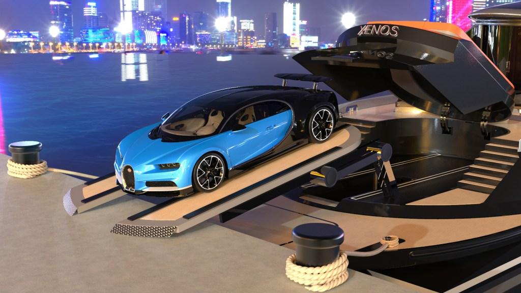 Así es Xenos, el yate más rápido del mundo que incluye un Bugatti