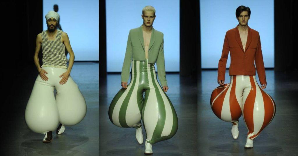 Estos pantalones inflables de látex son el último grito de la moda, ¿te los pondrías?