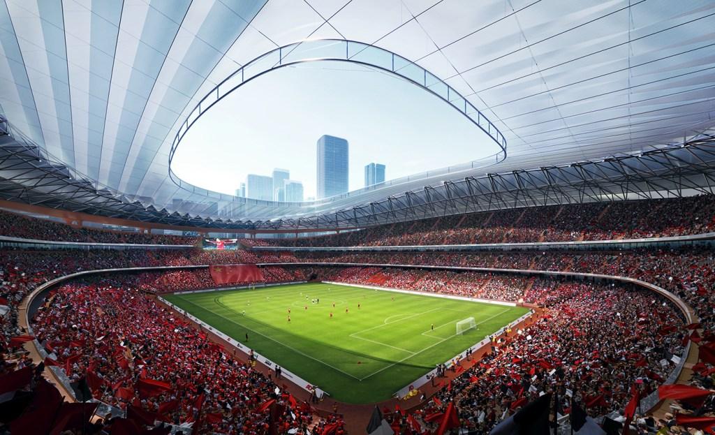 Zaha Hadid Architects muestra cómo se verá un nuevo estadio futurista en China