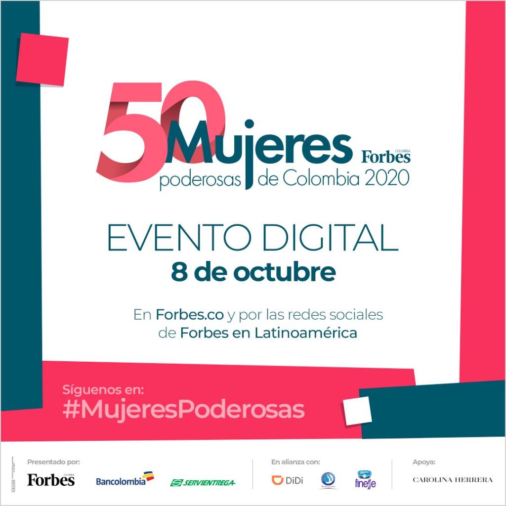 Ellas son las líderes que encabezan el Foro Mujeres Poderosas 2020 de Forbes Colombia