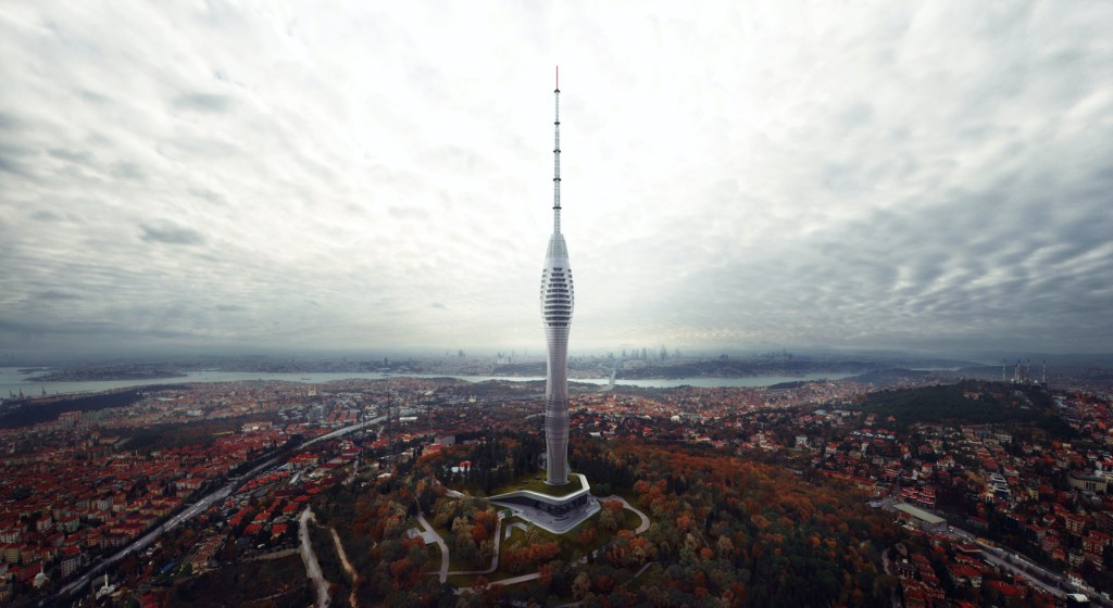 Conoce la nueva torre futurista del skyline de Estambul con vistas a toda Europa: 369 metros de altura